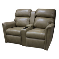 "60"" Golden Brown Dual Recliner with Middle Console"