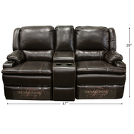 "67"" RV Dual Reclining Couch"