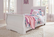 Anarasia White Twin Sleigh Headboard