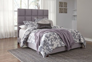 Contemporary Queen Gray Upholstered Bed