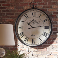 Augustina Antique Black Wall Clock