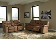 Boxberg Bark REC Power Sofa & DBL REC Power Loveseat with Console