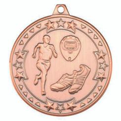 Running 'Tri Star' Medal - Bronze 2In