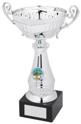"Silver Trophy Cup - TW18-052-268C - 22cm (8 3/4"")"