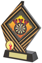 "Black Resin Diamond Darts Award - TW18-074-573ZCP - 15cm (6"")"