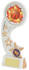 """White Resin Basketball Award - TW18-082-585ZCP - 17.5cm (7"""")"""