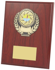 "Wood Effect Plaque Award - TW18-115-302DP - 15cm (6"")"