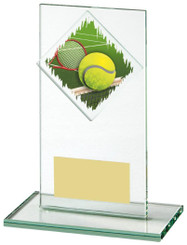 "Jade Glass Tennis Award - TW18-090-435ZDP - 14cm (5 1/2"")"