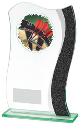"Jade Glass/Grey Strip Darts Award - TW18-076-784ZBP - 18.5cm (7 1/4"")"
