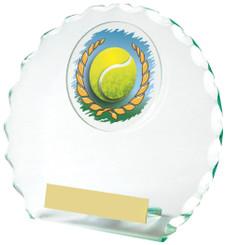 "Jade Glass Tennis Award - TW18-090-436ZAP - 14cm (5 1/2"")"