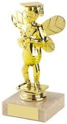 "Gold Spelling Bee Figure Trophy - TW18-112-178A - 15cm (6"")"