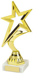 "Gold Shooting Star Trophy - TW18-107-452B - 18.5cm (7 1/4"")"