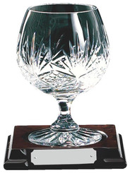 Crystal Brandy Balloon on Wood Stand - TW18-222-KL441