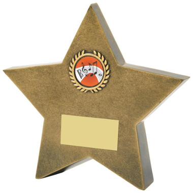 "Antique Gold Resin Star Awards - TW18-107-RS835 - 15.5cm (6 1/4"")"