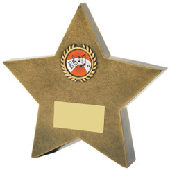 "Antique Gold Resin Star Awards - TW18-107-RS833 - 10.5cm (4 1/4"")"