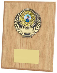 "Light Wood Effect Plaque Award - TW18-115-303BP - 20cm (8"")"