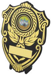 "Black Plastic Shield Award - TW18-112-128B - 12cm (4 3/4"")"