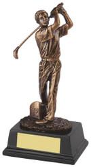 "Gold Figure Golf Award for Longest Drive - TW18-159-RS130 - 17.5cm (7"")"