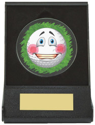 Black Case Golf Collectable - Embarrassed - TW18-168-671ZAP - Dia 60mm
