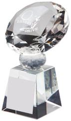 "Crystal Diamond Golf Award for Longest Drive - TW18-162-T.0385 - 10cm (4"")"