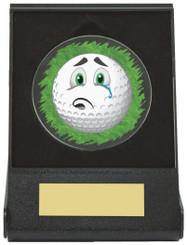 Black Case Golf Collectable - Sad - TW18-168-669ZAP - Dia 60mm