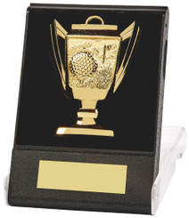 Cup Design Golf Medal in Presentation Case - TW18-170-210A - Gold