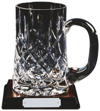 Crystal Tankard on Wood Stand - TW18-221-KL835
