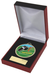 Colour Football Referee Medal in Case - 60mm - TW18-029-028A
