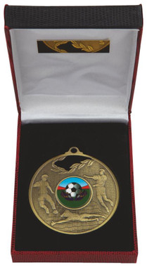 70mm Men's Football Medal in Case - TW18-036-031A