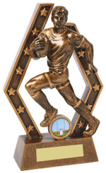 "Rugby Player Resin Trophy - TW18-059-RS824 - 18.5cm (7 1/2"")"