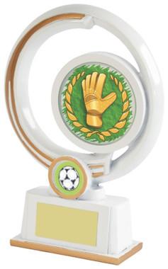 """White Resin Goalkeeper Award - 19cm (7 1/2"""") - TW18-031-522ZAP"""