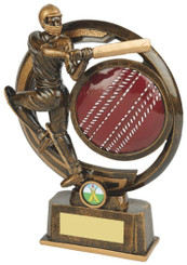 "Gold Resin Cricket Batsman Award - TW18-066-RS613 - 17.5cm (7"")"