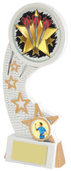 "White/Gold Darts Resin Star Holder - TW18-071-777ZEP - 14cm (5 1/2"")"