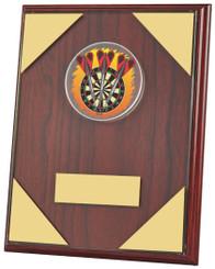 """Rosewood Darts Plaque Trophy - TW18-072-778ZDP - 15cm (6"""")"""