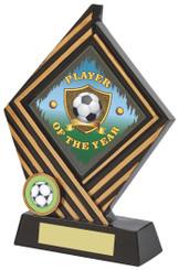"Black/Gold Rhombus Resin Award - 19cm (7 1/2"") - TW18-030-746ZAP"