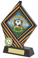 "Black/Gold Rhombus Resin Award - 19cm (7 1/2"") - TW18-030-748ZAP"