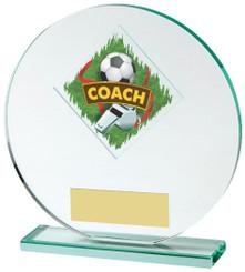 "Jade Glass Football Coach Award - 15cm (6"") - TW18-031-524ZAP"