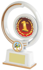 "White Resin Multi Sport Award - TW18-095-615ZAP - 19cm (7 1/2"")"
