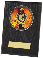 "Black Finish Wood Plaque Award - TW18-097-441ZAP - 15cm (6"")"