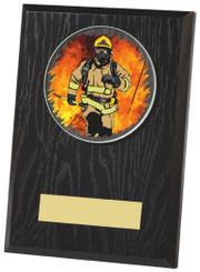 "Black Finish Wood Plaque Award - TW18-097-441ZCP - 10cm (4"")"