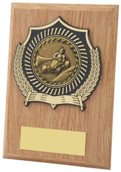 "Light Wood Effect Plaque Award - TW18-099-113CP - 12.5cm (5"")"