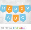 Blue and Orange Bunting Banner