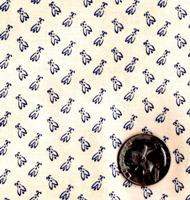 "Blue Hill Fabrics ""Vintage Shirtings"" Blue & Cream"