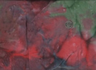 "108"" Wide Green, Red, Blue, Brown Tie Dye"