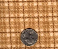 "Maywood Studios ""Woolies Flannel"" Medium Plaid Brown"