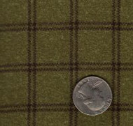 "Maywood Studios ""Woolies Flannel"" Window Pane Plaid Green"