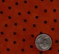 "Maywood Studios ""Woolies Flannel"" Dot Orange"