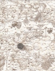"""Maywood Studios """"Thyme with Friends"""" Brown Toile'"""