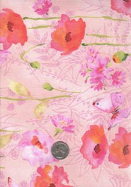 "Fabric Traditions ""Scatter Joy"" Pink Floral"