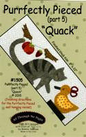"""Purrfectly Pieced - Part 5"" Applique Cat Pattern"